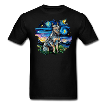 Load image into Gallery viewer, Blue Heeler Night Splash Unisex Classic T-Shirt - black