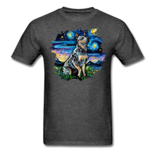 Load image into Gallery viewer, Blue Heeler Night Splash Unisex Classic T-Shirt - heather black