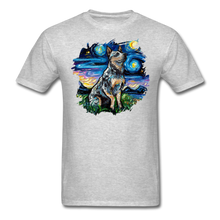 Load image into Gallery viewer, Blue Heeler Night Splash Unisex Classic T-Shirt - heather gray