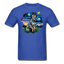Load image into Gallery viewer, Blue Heeler Night Splash Unisex Classic T-Shirt - royal blue