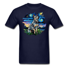 Load image into Gallery viewer, Blue Heeler Night Splash Unisex Classic T-Shirt - navy