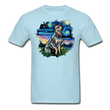 Load image into Gallery viewer, Blue Heeler Night Splash Unisex Classic T-Shirt - powder blue