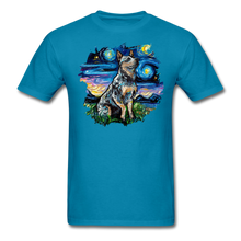 Load image into Gallery viewer, Blue Heeler Night Splash Unisex Classic T-Shirt - turquoise