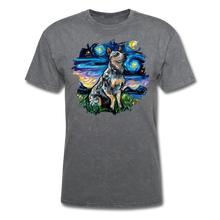 Load image into Gallery viewer, Blue Heeler Night Splash Unisex Classic T-Shirt - mineral charcoal gray
