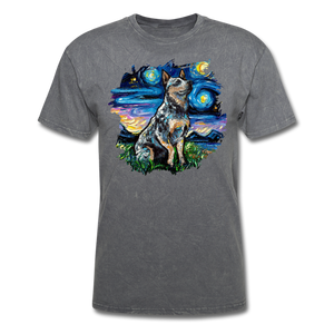 Blue Heeler Night Splash Unisex Classic T-Shirt - mineral charcoal gray