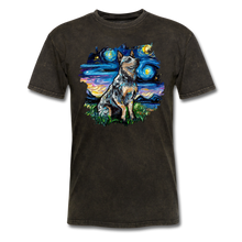 Load image into Gallery viewer, Blue Heeler Night Splash Unisex Classic T-Shirt - mineral black