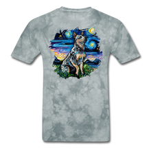 Load image into Gallery viewer, Blue Heeler Night Splash Unisex Classic T-Shirt - grey tie dye