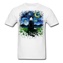 Load image into Gallery viewer, Border Collie Night 3 Splash Unisex Classic T-Shirt - white