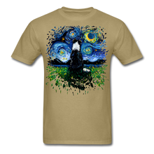 Load image into Gallery viewer, Border Collie Night 3 Splash Unisex Classic T-Shirt - khaki