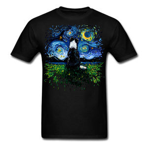 Border Collie Night 3 Splash Unisex Classic T-Shirt - black
