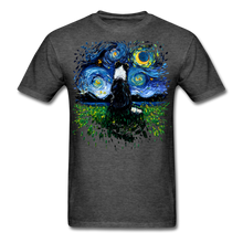 Load image into Gallery viewer, Border Collie Night 3 Splash Unisex Classic T-Shirt - heather black