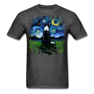 Border Collie Night 3 Splash Unisex Classic T-Shirt - heather black