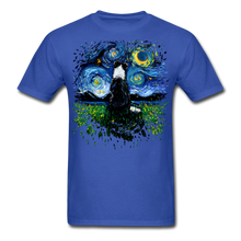 Load image into Gallery viewer, Border Collie Night 3 Splash Unisex Classic T-Shirt - royal blue