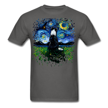 Load image into Gallery viewer, Border Collie Night 3 Splash Unisex Classic T-Shirt - charcoal