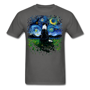 Border Collie Night 3 Splash Unisex Classic T-Shirt - charcoal