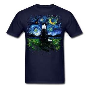 Border Collie Night 3 Splash Unisex Classic T-Shirt - navy