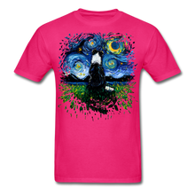Load image into Gallery viewer, Border Collie Night 3 Splash Unisex Classic T-Shirt - fuchsia