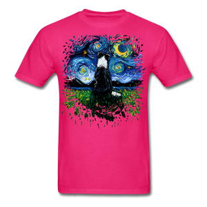 Border Collie Night 3 Splash Unisex Classic T-Shirt - fuchsia