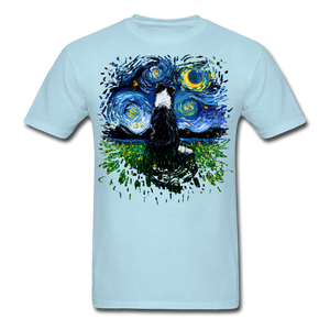 Border Collie Night 3 Splash Unisex Classic T-Shirt - powder blue