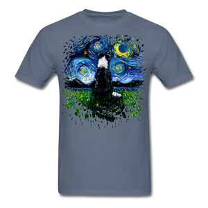 Border Collie Night 3 Splash Unisex Classic T-Shirt - denim