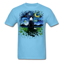 Load image into Gallery viewer, Border Collie Night 3 Splash Unisex Classic T-Shirt - aquatic blue