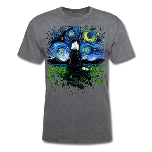 Border Collie Night 3 Splash Unisex Classic T-Shirt - mineral charcoal gray