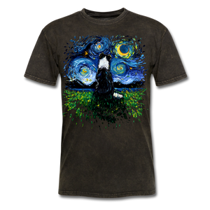 Border Collie Night 3 Splash Unisex Classic T-Shirt - mineral black