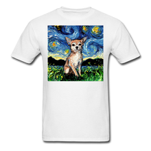 Load image into Gallery viewer, Chihuahua Night Unisex Classic T-Shirt - white