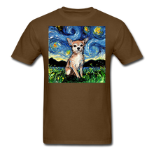 Load image into Gallery viewer, Chihuahua Night Unisex Classic T-Shirt - brown