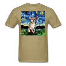 Load image into Gallery viewer, Chihuahua Night Unisex Classic T-Shirt - khaki