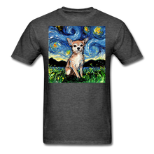 Load image into Gallery viewer, Chihuahua Night Unisex Classic T-Shirt - heather black
