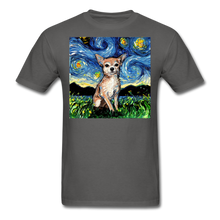 Load image into Gallery viewer, Chihuahua Night Unisex Classic T-Shirt - charcoal