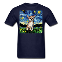 Load image into Gallery viewer, Chihuahua Night Unisex Classic T-Shirt - navy