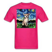 Load image into Gallery viewer, Chihuahua Night Unisex Classic T-Shirt - fuchsia
