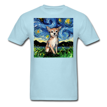Load image into Gallery viewer, Chihuahua Night Unisex Classic T-Shirt - powder blue