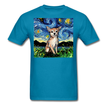 Load image into Gallery viewer, Chihuahua Night Unisex Classic T-Shirt - turquoise