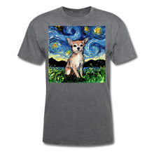 Load image into Gallery viewer, Chihuahua Night Unisex Classic T-Shirt - mineral charcoal gray