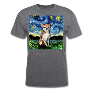 Chihuahua Night Unisex Classic T-Shirt - mineral charcoal gray