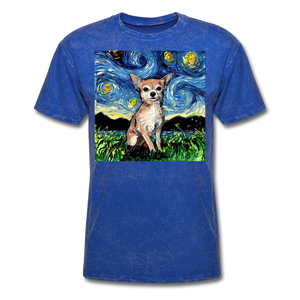 Chihuahua Night Unisex Classic T-Shirt - mineral royal