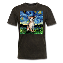 Load image into Gallery viewer, Chihuahua Night Unisex Classic T-Shirt - mineral black