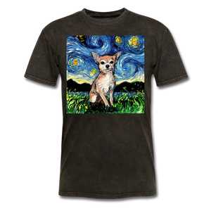 Chihuahua Night Unisex Classic T-Shirt - mineral black