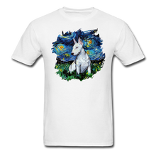 Load image into Gallery viewer, Bull Terrier Night Splash Unisex Classic T-Shirt - white