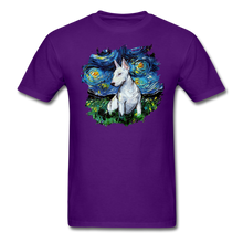 Load image into Gallery viewer, Bull Terrier Night Splash Unisex Classic T-Shirt - purple