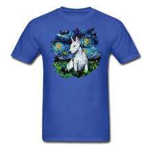 Load image into Gallery viewer, Bull Terrier Night Splash Unisex Classic T-Shirt - royal blue