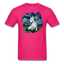 Load image into Gallery viewer, Bull Terrier Night Splash Unisex Classic T-Shirt - fuchsia