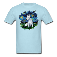 Load image into Gallery viewer, Bull Terrier Night Splash Unisex Classic T-Shirt - powder blue