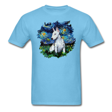Load image into Gallery viewer, Bull Terrier Night Splash Unisex Classic T-Shirt - aquatic blue