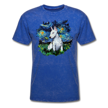 Load image into Gallery viewer, Bull Terrier Night Splash Unisex Classic T-Shirt - mineral royal