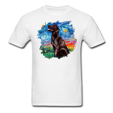 Load image into Gallery viewer, Chocolate Labrador Night Splash Unisex Classic T-Shirt - white