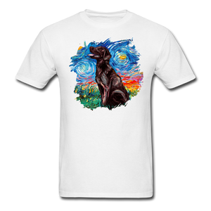 Chocolate Labrador Night Splash Unisex Classic T-Shirt - white